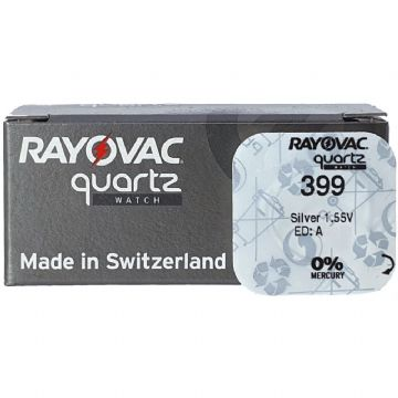 Rayovac 399 SR927W 1.5V Silver Oxide Watch Battery
